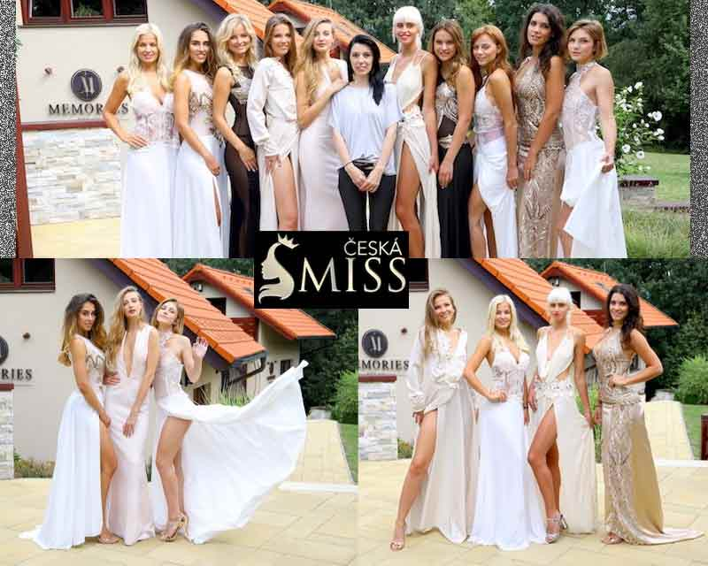 Designer Petra Pilarova introduces an evening dress collection for Czech Miss 2017 finalists