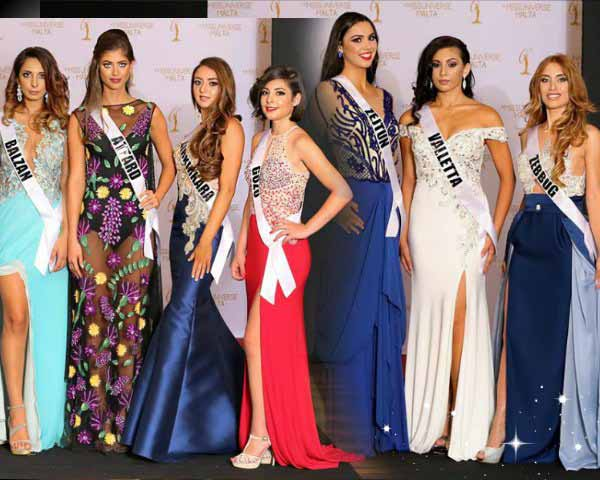 Miss Universe Malta 2017 finalists radiate grace in the Evening Gown Round