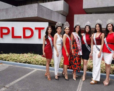 PLDTHome welcomed Rachel Peters along with the Binibining Pilipinas 2017 newly crowned Queens