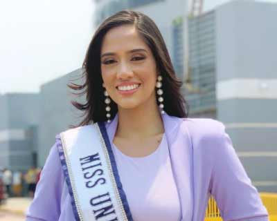 Honduras' Cecilia Rossell sets off to USA for Miss Universe 2020