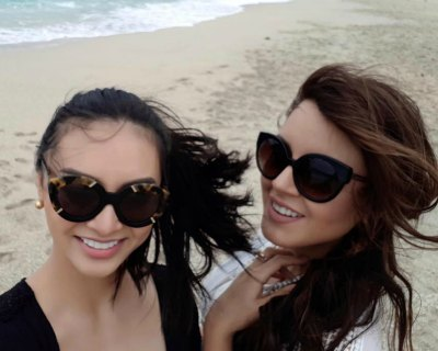 Katherine Espin and Kylie Verzosa holidaying at Pagudpud