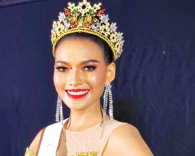 Agie Kesarananthong crowned Miss Grand Nong Khai 2020 for Miss Grand Thailand 2020