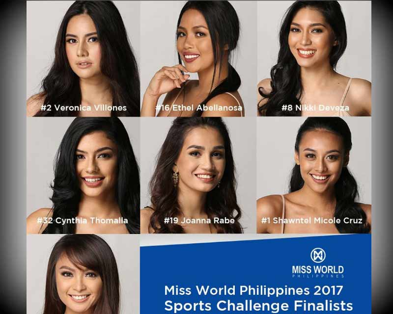 Miss World Philippines 2017 Sports Challenge Finalists announced
