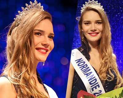 Esther Houdement crowned as Miss Normandie 2016 for Miss France 2017
