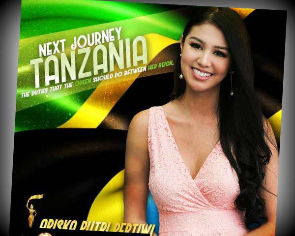 Ariska Puteri and Mr Nawat Itsaragrisil to attend the finale of Miss Grand Tanzania 2017