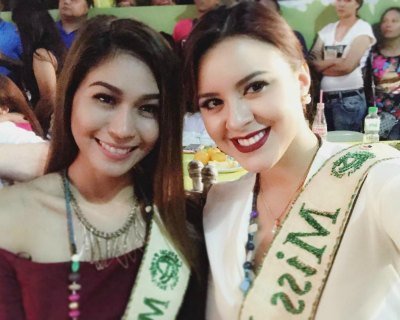 Katherine Espin fulfilling her Miss Earth duties in Isabela