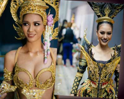 Finalists of Miss Grand Thailand 2017 exhibit their Regal National Costumes