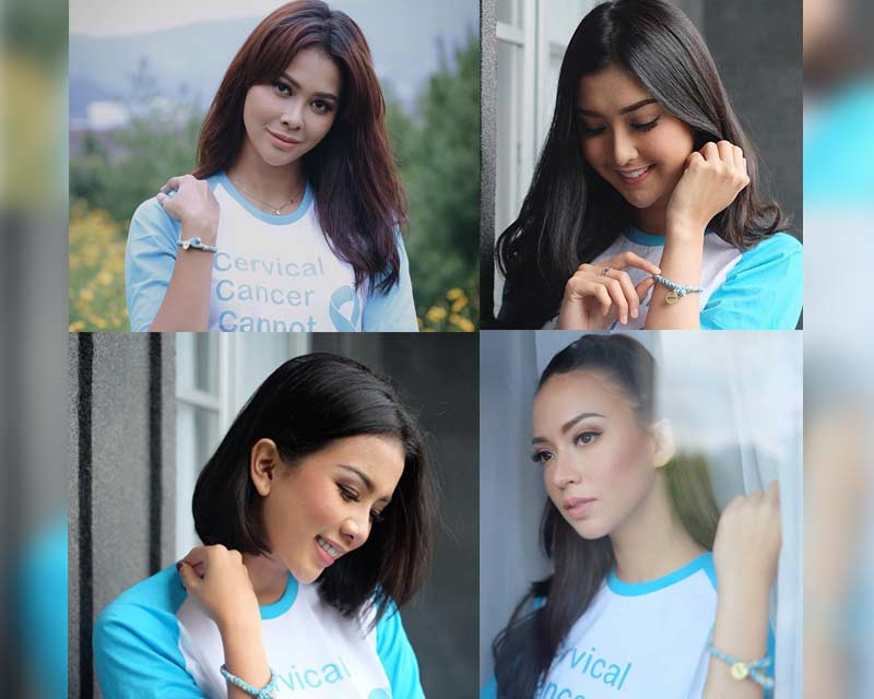Indonesia beauty queens commemorate World Cancer Day