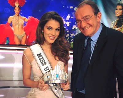 Iris Mittenaere attends the noon show of Jean-Pierre Pernaut on TF1