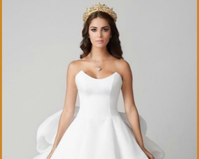 Laura Spoya copies Mark Bumgarner's Design for her Wedding Dress