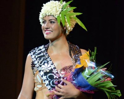 Natalia Short Miss Cook Islands 2016 attends Just Play Festival