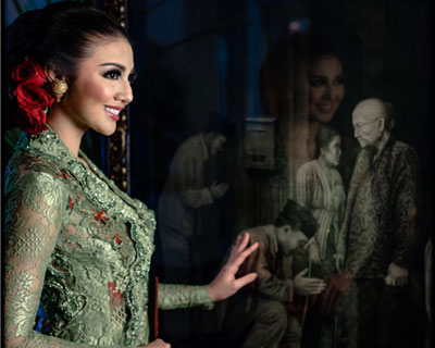 Miss Grand International 2016 Ariska Putri Pertiwi stuns in a Fashion shoot wearing Kebaya