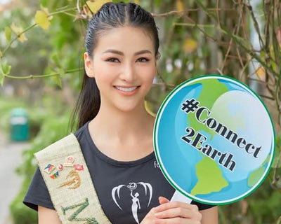 Miss Earth 2018 Phuong Khanh invites the world to celebrate Earth hour on 30th March
