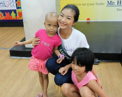 Miss Philippines Earth 2017 contestants visited Nayon ng Kabataan: Child house