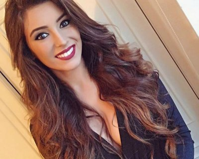 Portugal's delegate Flávia Brito wishes for the Miss Universe 2016 crown