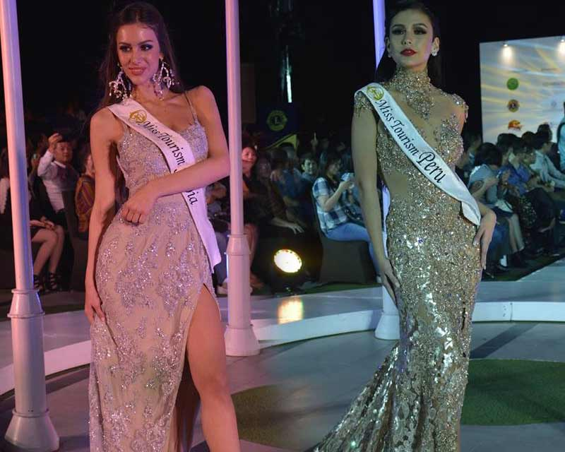 Miss Tourism World 2017/ 2018 contestants dazzle in evening gowns