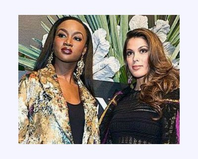 Deshauna Barber and Iris Mittenaere slaying the NYFW 2017