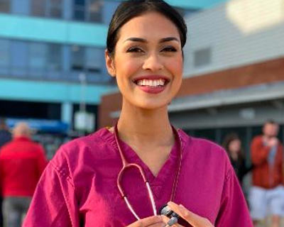 Bhasha Mukherjee Miss England 2019 hangs up her crown to return to doctor duties