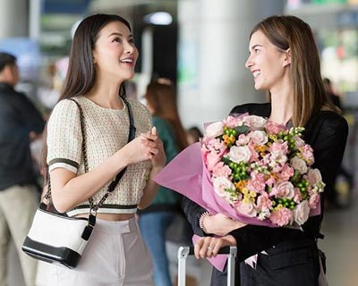 Miss Earth Air 2018 Melanie Mader reunited with Phuong Khanh in Vietnam