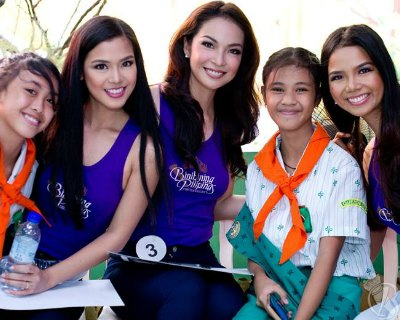 Bb Pilipinas 2017 finalists meet children of Philippine Cancer Society