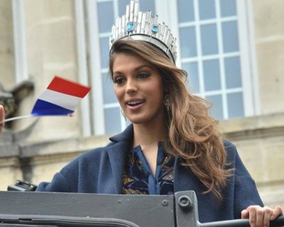 Iris Mittenaere Homecoming Parade in Lille France
