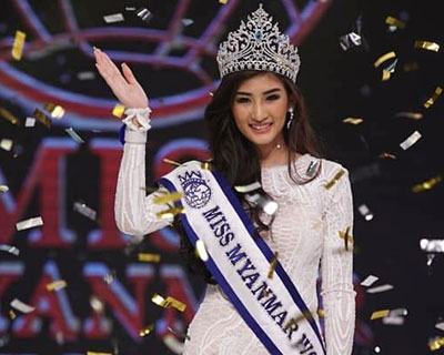 Han Thi crowned Miss Myanmar World 2018