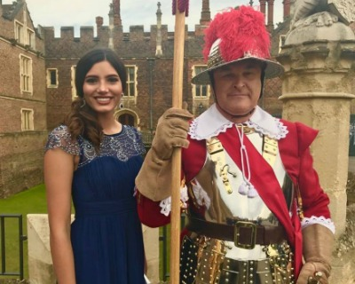 Stephanie Del Valle attends the 500th Anniversary of The Worshipful Company of Carmen in England