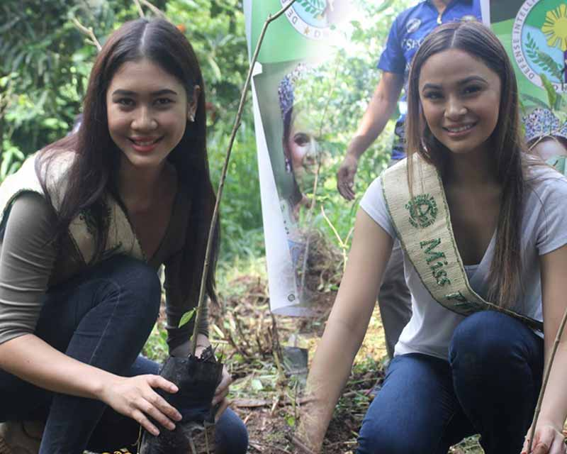 Tree Planting Activity with Jessica Marasigan and Nellza Mortola Bautista