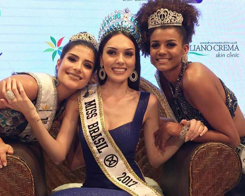 Gabrielle Vilela crowned as Miss Mundo Brasil 2017