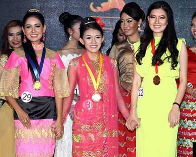 Miss Golden Land Myanmar 2015 Talent and Swimsuit Competition Winners