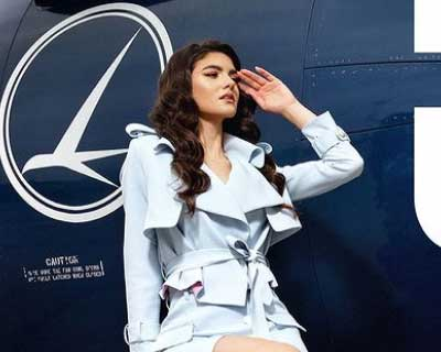 Miss Universe Romania 2020 Bianca Tirsin departs in style to Florida, USA