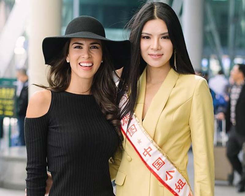 Maria Jose Lora arrives in China for Miss Grand China 2018