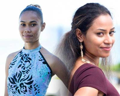 Four lucky finalists of Miss World Fiji 2017 walked the ramp at Fiji Fashion Week