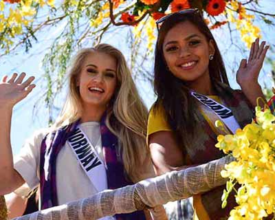 Miss Universe 2016 contestants paraded Baguio in flower floats