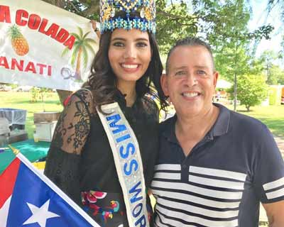 Miss World 2016 Stephanie Del Valle opens the Annual Puerto Rican Festival Chicago
