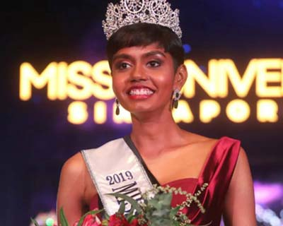 Mohana Prabha, Indian-origin beauty, crowned Miss Universe Singapore 2019