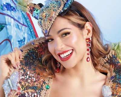 Viviana Vizzini's national costume for Miss Universe 2020 inspired by Italy's fight against covid