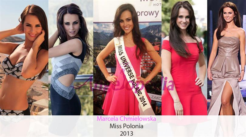 The reigning Miss Polonia is Marcela Chmielowska, she will be representing Poland at the Miss Universe 2014 pageant