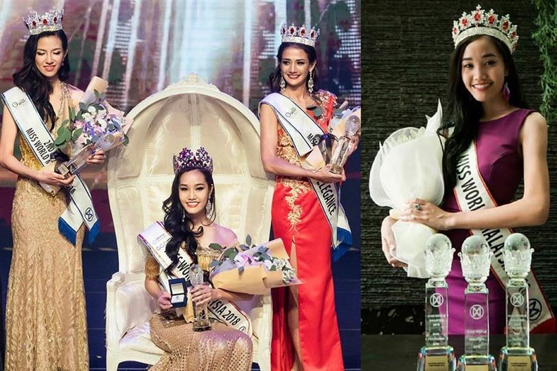 Larissa Ping crowned Miss World Malaysia 2018