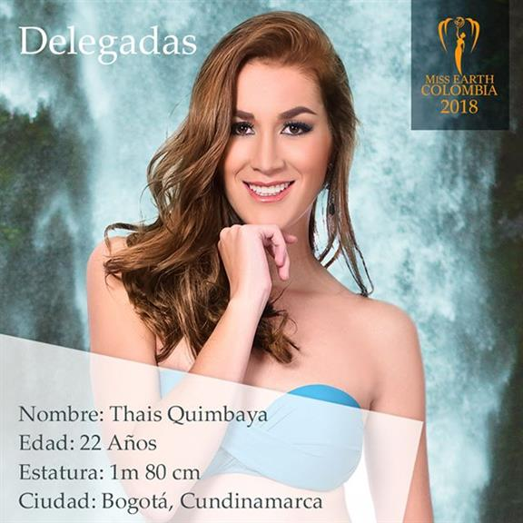 Thaís Quimbaya – Seventh Delegate of Miss Earth Colombia 2018