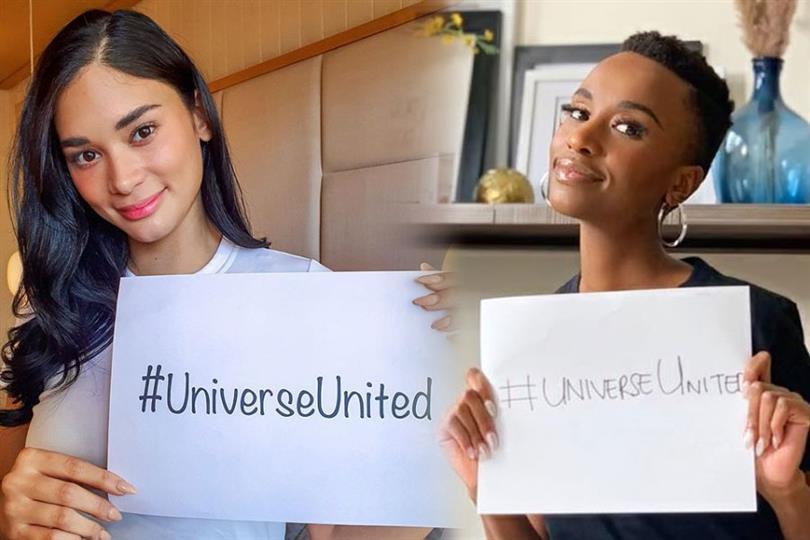 Miss Universe queens Zozibini Tunzi and Pia Wurtzbach spread positivity amidst pandemic