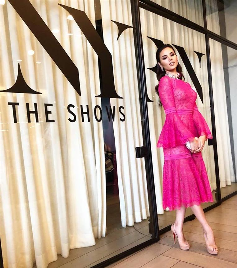 Catriona Gray dazzles at the first day of New York Fashion Week