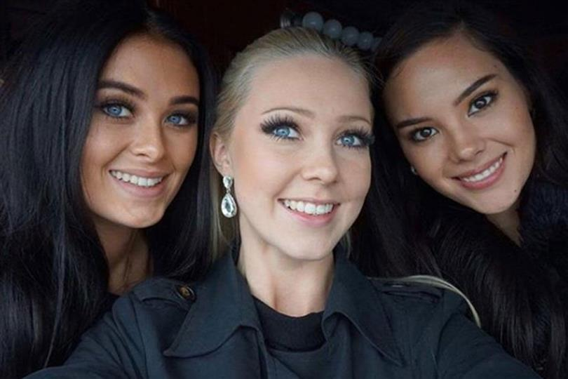 Catriona Gray, Helena Heuser and Emma Strandbergh reunite in Miss Universe 2018