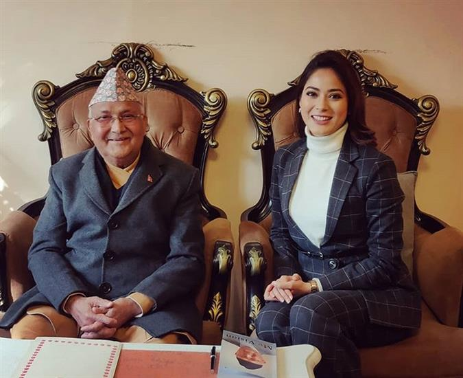 Shrinkhala Khatiwada discusses politics and youth involvement with the Honorable Prime Minister