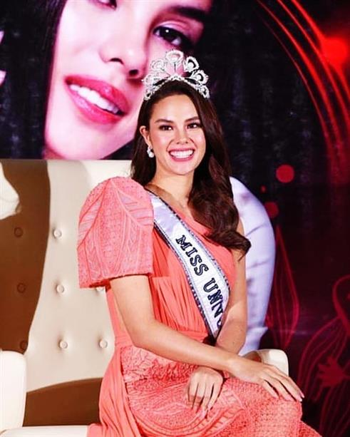 Catriona Gray begins her first day of Homecoming with pride in Philippines