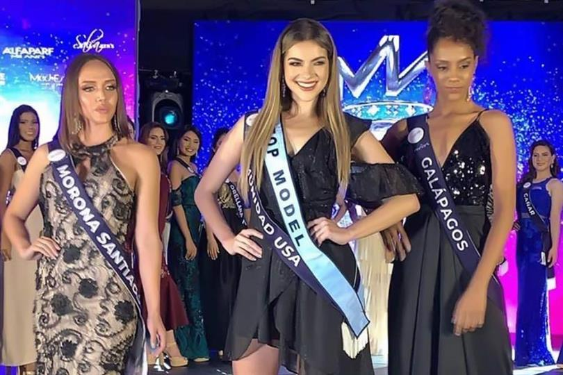 Mara Topic representing Communidad USA wins Top Model Competition of Miss World Ecuador 2019