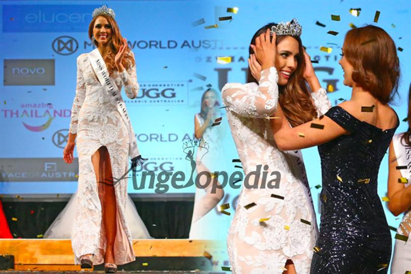 Madeleine Crowe from Queensland crowned as Miss World Australia 2016