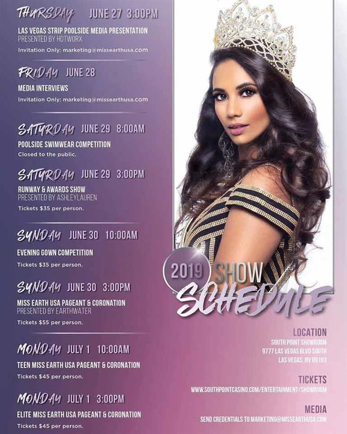Miss Earth USA 2019 Schedule of Activities announced