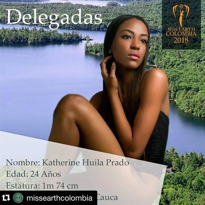 Katherine Huila Prado - The fourth Delegate of Miss Earth Colombia 2018