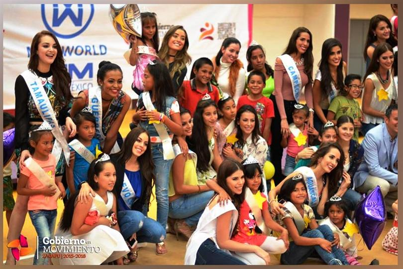 32 Finalists of Miss World Mexico Spent Time with Children